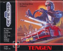 Cartridge artwork for Road Blasters on the Sega Nomad.