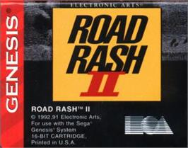 Cartridge artwork for Road Rash 2 on the Sega Nomad.