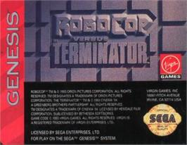 Cartridge artwork for Robocop vs. the Terminator on the Sega Nomad.