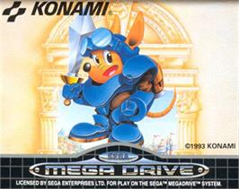 Cartridge artwork for Rocket Knight Adventures on the Sega Nomad.