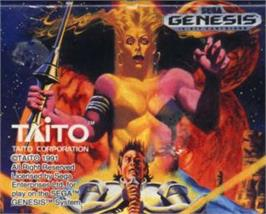 Cartridge artwork for Saint Sword on the Sega Nomad.