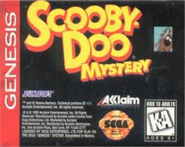 Cartridge artwork for Scooby Doo Mystery on the Sega Nomad.