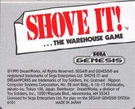 Cartridge artwork for Shove It! The Warehouse Game on the Sega Nomad.