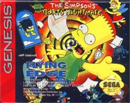 Cartridge artwork for Simpsons, The: Bart's Nightmare on the Sega Nomad.