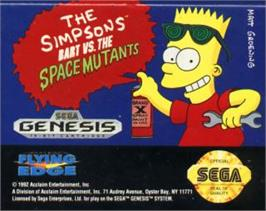 Cartridge artwork for Simpsons, The: Bart vs. the Space Mutants on the Sega Nomad.
