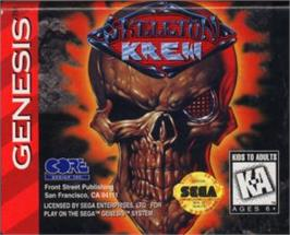 Cartridge artwork for Skeleton Krew on the Sega Nomad.