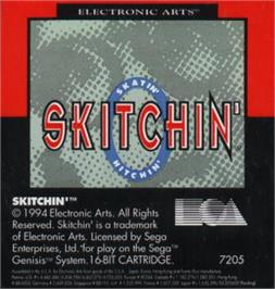 Cartridge artwork for Skitchin' on the Sega Nomad.