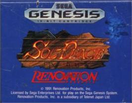 Cartridge artwork for Sol-Feace on the Sega Nomad.