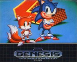 Cartridge artwork for Sonic The Hedgehog 2 on the Sega Nomad.