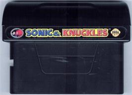 Cartridge artwork for Sonic and Knuckles on the Sega Nomad.