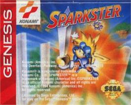 Cartridge artwork for Sparkster on the Sega Nomad.