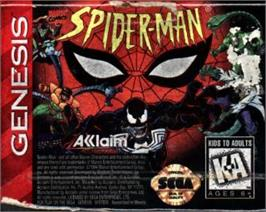 Cartridge artwork for Spider-Man: The Animated Series on the Sega Nomad.