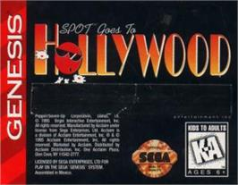 Cartridge artwork for Spot Goes to Hollywood on the Sega Nomad.