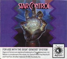 Cartridge artwork for Star Control on the Sega Nomad.