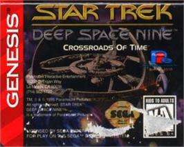 Cartridge artwork for Star Trek Deep Space Nine - Crossroads of Time on the Sega Nomad.