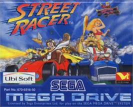 Cartridge artwork for Street Racer on the Sega Nomad.