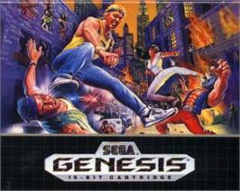 Cartridge artwork for Streets of Rage on the Sega Nomad.