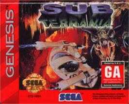Cartridge artwork for Sub-Terrania on the Sega Nomad.