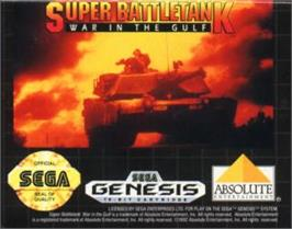 Cartridge artwork for Super Battle Tank - War in the Gulf on the Sega Nomad.