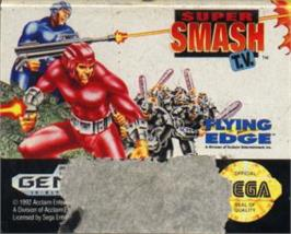 Cartridge artwork for Super Smash T.V. on the Sega Nomad.