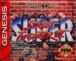 Cartridge artwork for Super Street Fighter II - The New Challengers on the Sega Nomad.