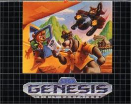 Cartridge artwork for TaleSpin on the Sega Nomad.
