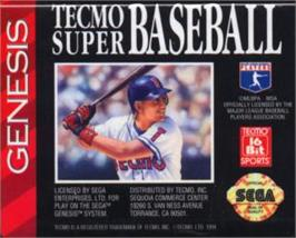 Cartridge artwork for Tecmo Super Baseball on the Sega Nomad.