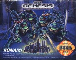 Cartridge artwork for Teenage Mutant Ninja Turtles: The HyperStone Heist on the Sega Nomad.