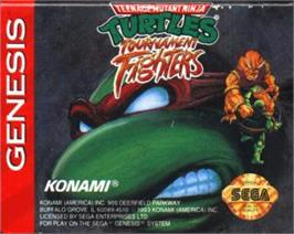 Cartridge artwork for Teenage Mutant Ninja Turtles: Tournament Fighters on the Sega Nomad.