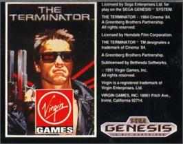 Cartridge artwork for Terminator, The on the Sega Nomad.