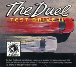 Cartridge artwork for Test Drive II - The Duel on the Sega Nomad.