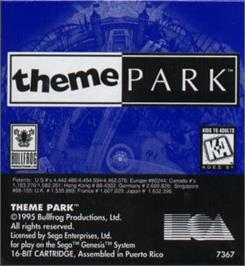 Cartridge artwork for Theme Park on the Sega Nomad.