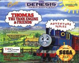 Cartridge artwork for Thomas the Tank Engine & Friends on the Sega Nomad.