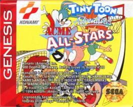 Cartridge artwork for Tiny Toon Adventures: Acme All-Stars on the Sega Nomad.