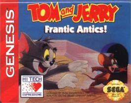 Cartridge artwork for Tom and Jerry - Frantic Antics on the Sega Nomad.