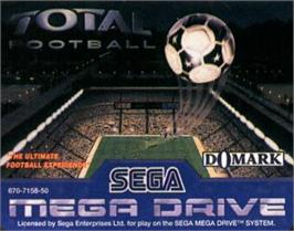 Cartridge artwork for Total Football on the Sega Nomad.