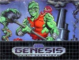 Cartridge artwork for Toxic Crusaders on the Sega Nomad.