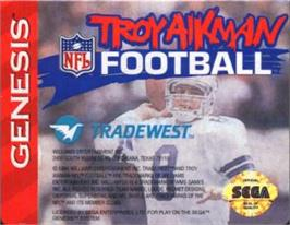 Cartridge artwork for Troy Aikman NFL Football on the Sega Nomad.