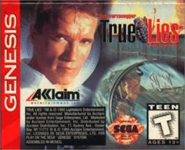 Cartridge artwork for True Lies on the Sega Nomad.