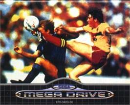 Cartridge artwork for Ultimate Soccer on the Sega Nomad.
