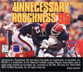 Cartridge artwork for Unnecessary Roughness '95 on the Sega Nomad.