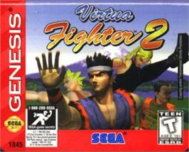 Cartridge artwork for Virtua Fighter 2 on the Sega Nomad.