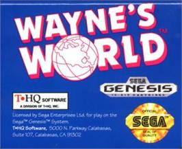 Cartridge artwork for Wayne's World on the Sega Nomad.