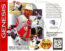Cartridge artwork for Wayne Gretzsky NHLPA All-Stars on the Sega Nomad.