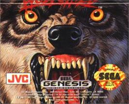 Cartridge artwork for Wolfchild on the Sega Nomad.