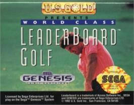 Cartridge artwork for World Class Leaderboard on the Sega Nomad.
