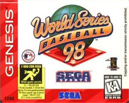 Cartridge artwork for World Series Baseball '98 on the Sega Nomad.