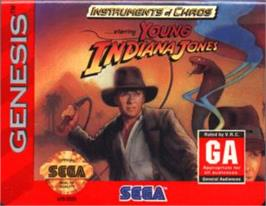 Cartridge artwork for Young Indiana Jones - Instrument of Chaos on the Sega Nomad.