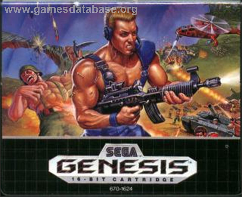 Cartridge artwork for Mercs on the Sega Nomad.