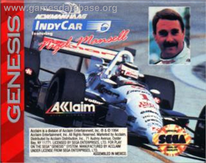 Newman Haas Indy Car Sega Nomad Games Database